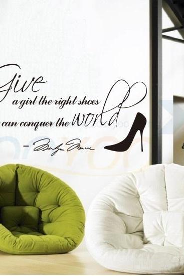 home decor creative quote wall decal decorative removable vinyl wall sticker