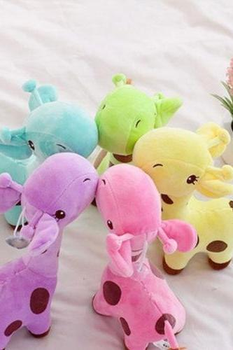 1 Piece Plush Giraffe Soft Toy Animal Dear Doll Baby Kid Child Birthday Happy Gift 5 Colors Children's Day Present