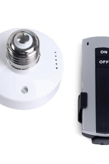 E27 Screw Wireless Remote Control Light Lamp Bulb Holder Cap Socket Switch Remote Control Switches
