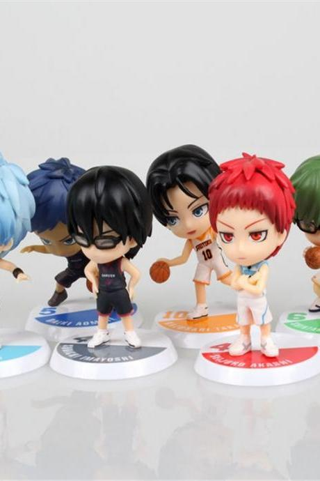 Anime Cute The basketball which Kuroko plays Mini PVC Action Figure Collection Toys 8cm 6pcs/set