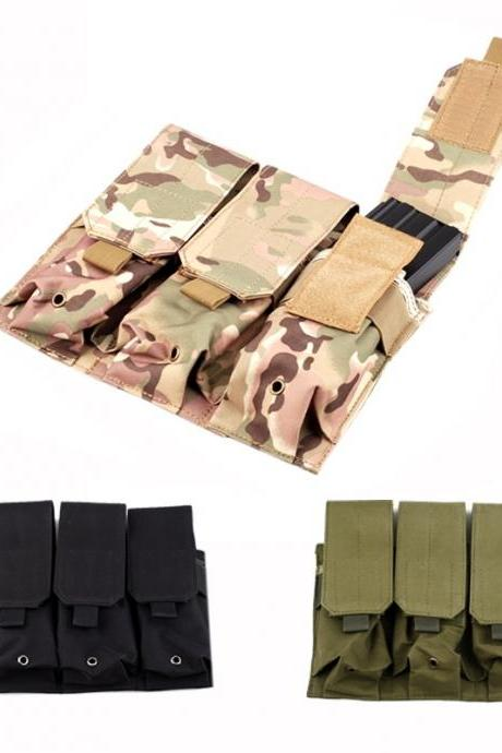 Molle Tactical Triple M4 5.56mm Mag Magazine Pouch Bag For Pistol Handgun