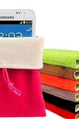 Multi-function Universal 5'/11x16cm Colorful Portable Soft Cloth Velvet Faux Suede Sleeve Carry Case Bag Fabric Protective Pouch Cover SKin with Drawstring Closure For Tablet Phone Money Key Card Holder Electronic Device Jewelry Sundry Storage Co