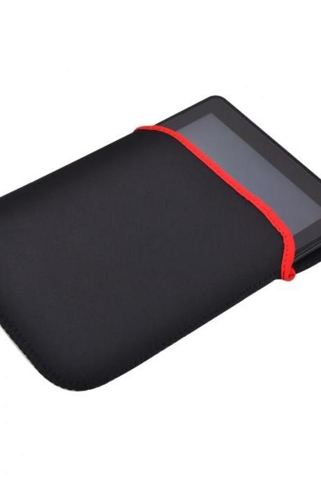 9.7 inch Neoprene Sleeve Bag for ipad for all 9.7 inch tablet pc (Color: Black & Red)