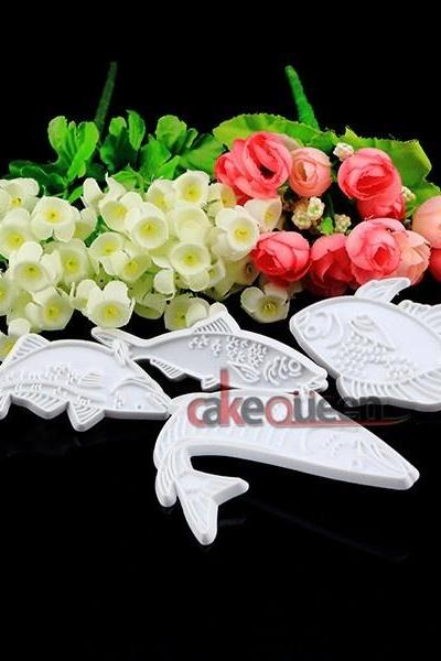 1Set fish flower cake Mold Cookware Dining Bar Non-Stick Cake Decorating fondant soap mold DIY cake tool (Color: Multicolor)