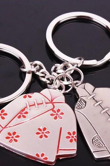 2 pcs Lovely ancient costumes key chain key rings