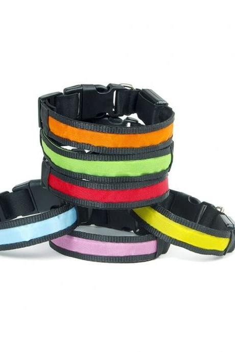 Pet Super Bright Led Anti-lost Led Lamp Dog Collar, Dog Cat Luminous Flash Collars, Dog Cat Collar