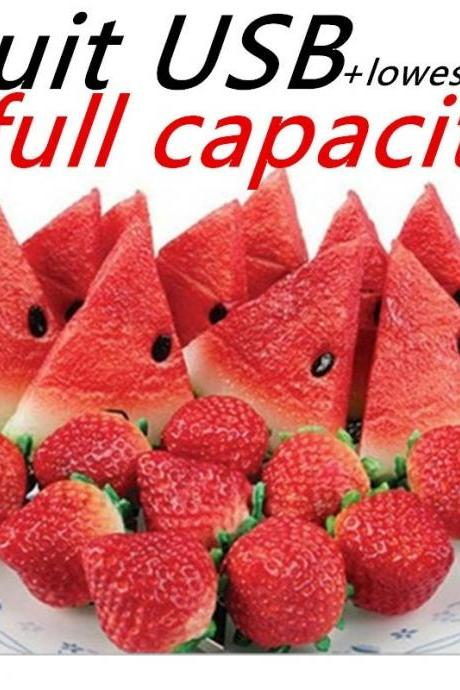100% capacity Watermelon and strawberry fruit USB Flash drive Memory Pen Drive Stick 4GB 8GB 16GB 32GB pendriveping