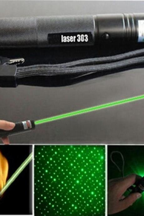 Laser303 zoom power laser flashlight pointer flashlight Lit matches Starry lamp Optional red light green light